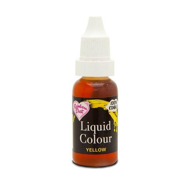 554820  Rainbow Dust Liquid Colour - Yellow - Loose Pot