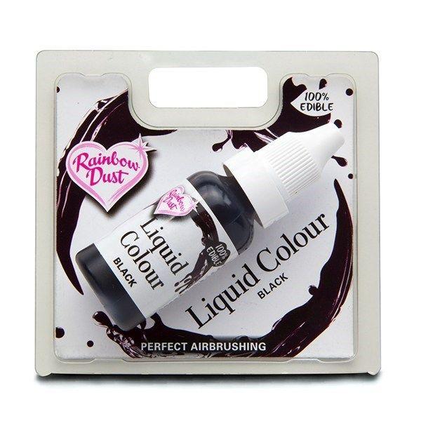 Rainbow Dust Liquid Colour - Black - Retail Pack. 850035