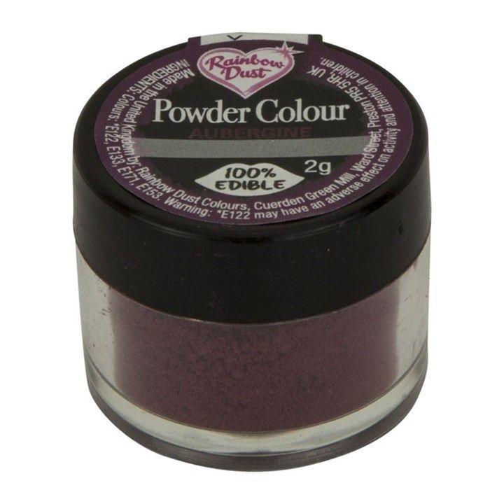 Rainbow Dust Powder Colour - Aubergine - Loose Pot. 552680