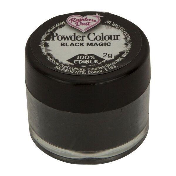 Rainbow Dust Powder Colour - Black Magic - loose pot. 552420