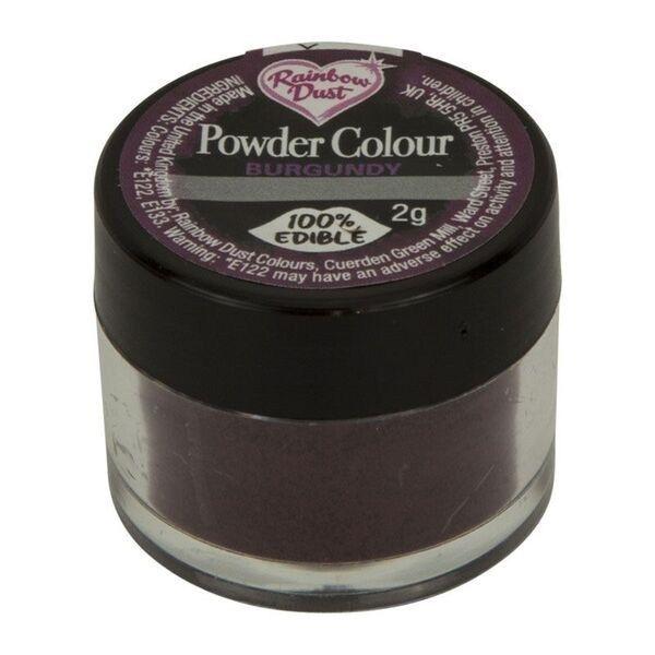 Rainbow Dust Powder Colour - Burgundy  - loose pot. 553440