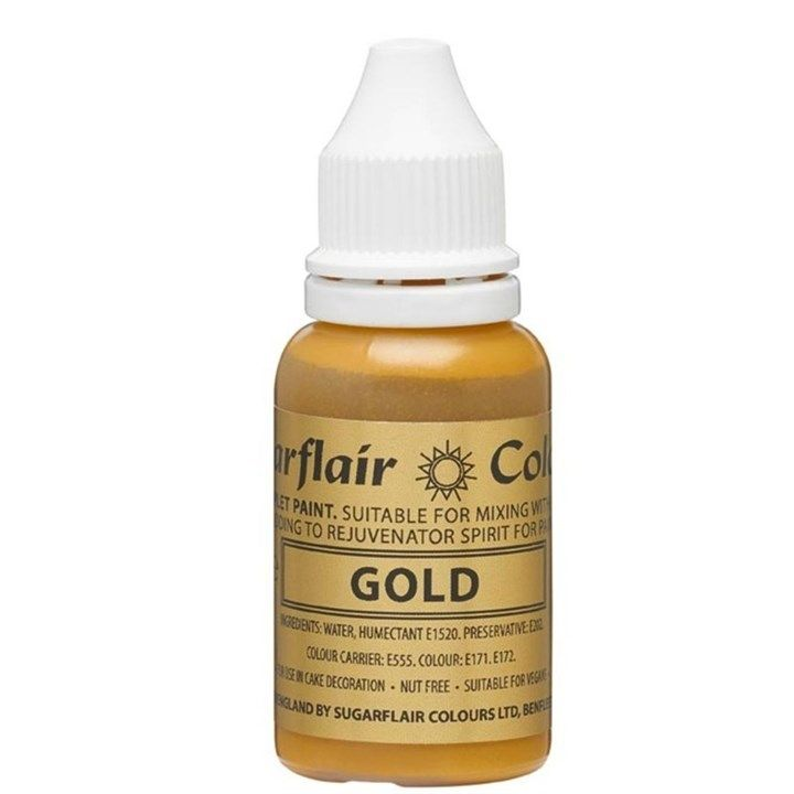 Sugarflair Sugartint Droplet Colour - Gold - 14ml. 54669