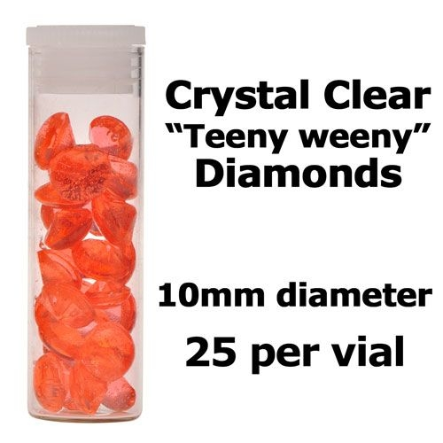 Edible Diamonds: 10mm. Approximately 25 per vial