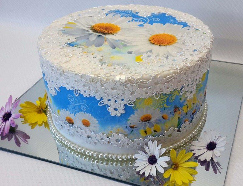 imageart spring daisey cake