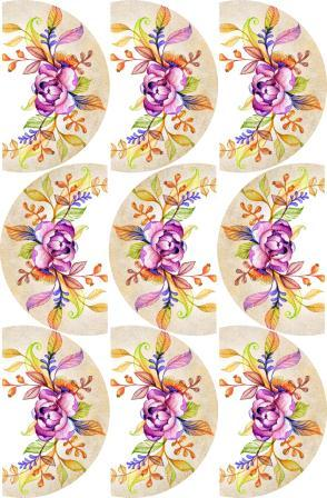 Cupcake Edible ImageArt: Water Colours