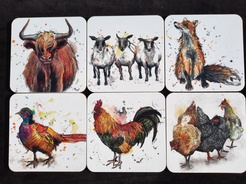 Coasters -Sets of 6