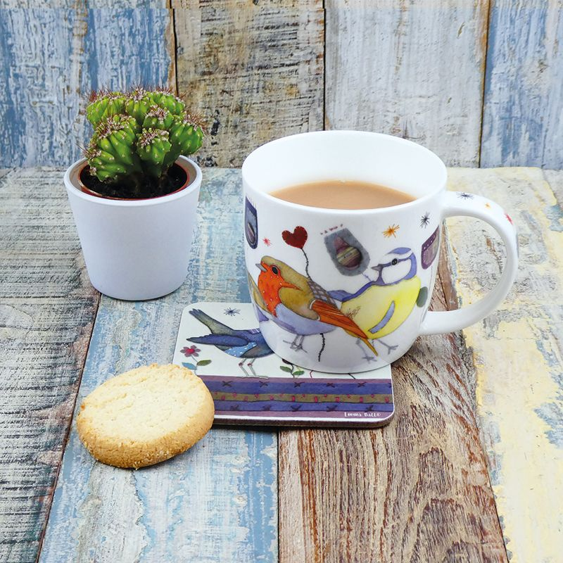 Fine Bone China Mug In A Printed Gift Box Penguins In Pullovers