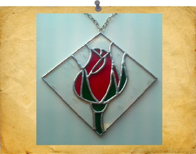 new framed rose