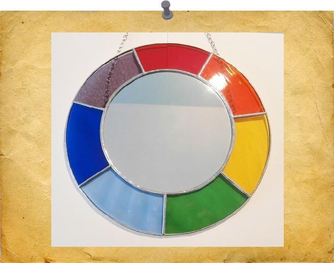circle rainbow mirror