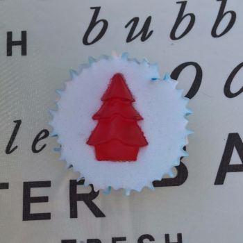 Christmas Cake Scented Soap Cupcake x6