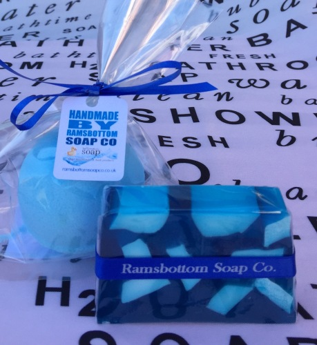 ramsbottom soap co ribboned soap and bomb