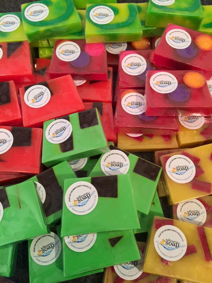 soaps with stickers
