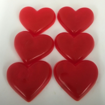 12 x 6 Pack of Cherry Scented Mini Soap Hearts