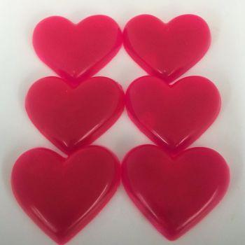 12 x 6 Coconut Scented Mini Hearts Soaps