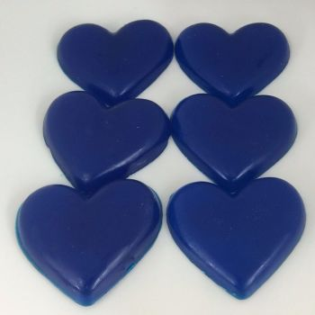 12 x 6 Dewberry Scented Mini Heart Soaps