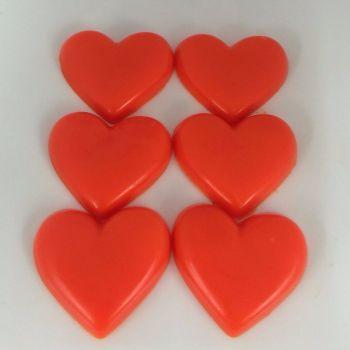 12 x 6 Mango Scented Mini Heart Soaps