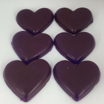 12 x 6 Pack of Parma Violet Scented Mini Heart Soaps