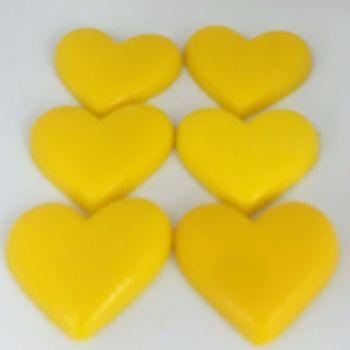 12 x 6 Pack of Sherbert Lemon Scented Mini Heart Soaps