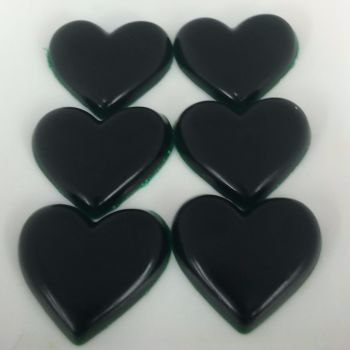 12 x 6 Peppermint Scented Mini Heart Soaps