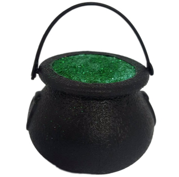 6 x Witch's Ghastly Green Cauldron Halloween Bath Bomb