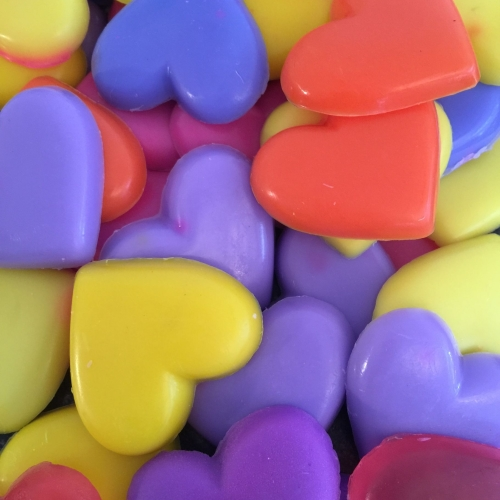 12 x 6 Pack of Mini Heart Soaps - available in any fragrance (colour to com