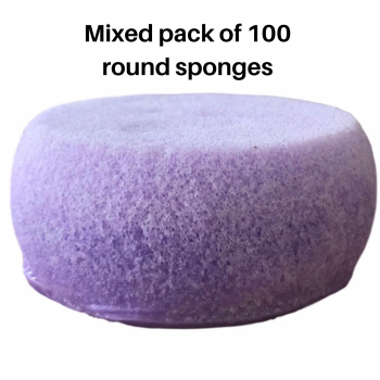 **NEW round individual sponge x 100 mixed fragrance pack (regular fragrances )