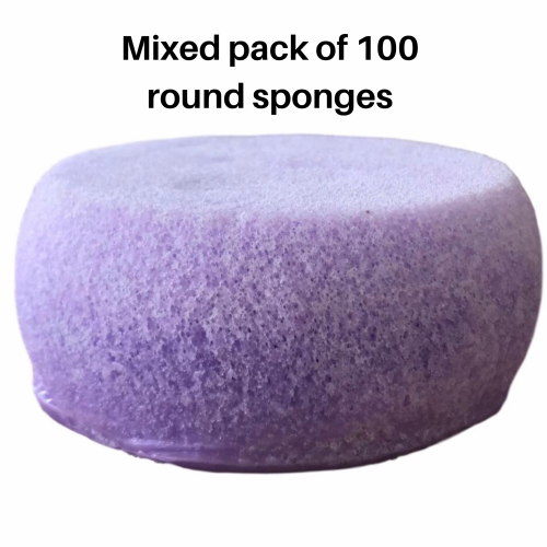 **NEW round individual sponge x 100 mixed fragrance pack