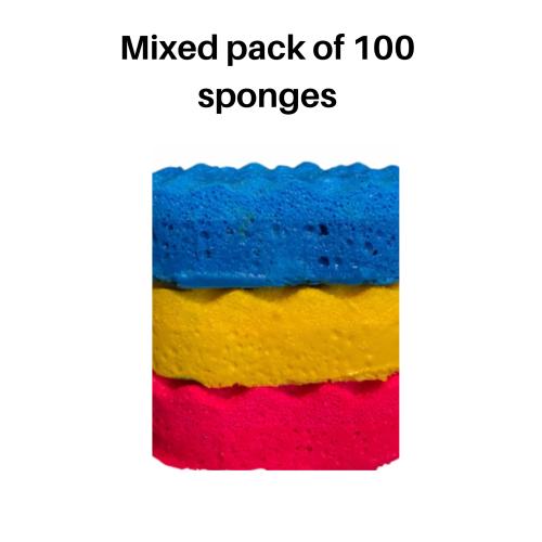 100 x Random Perfume Inspired Fragranced Individual Soap Sponges