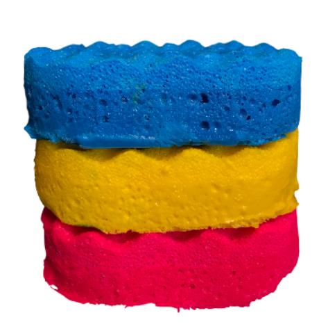 6 mixed sponges