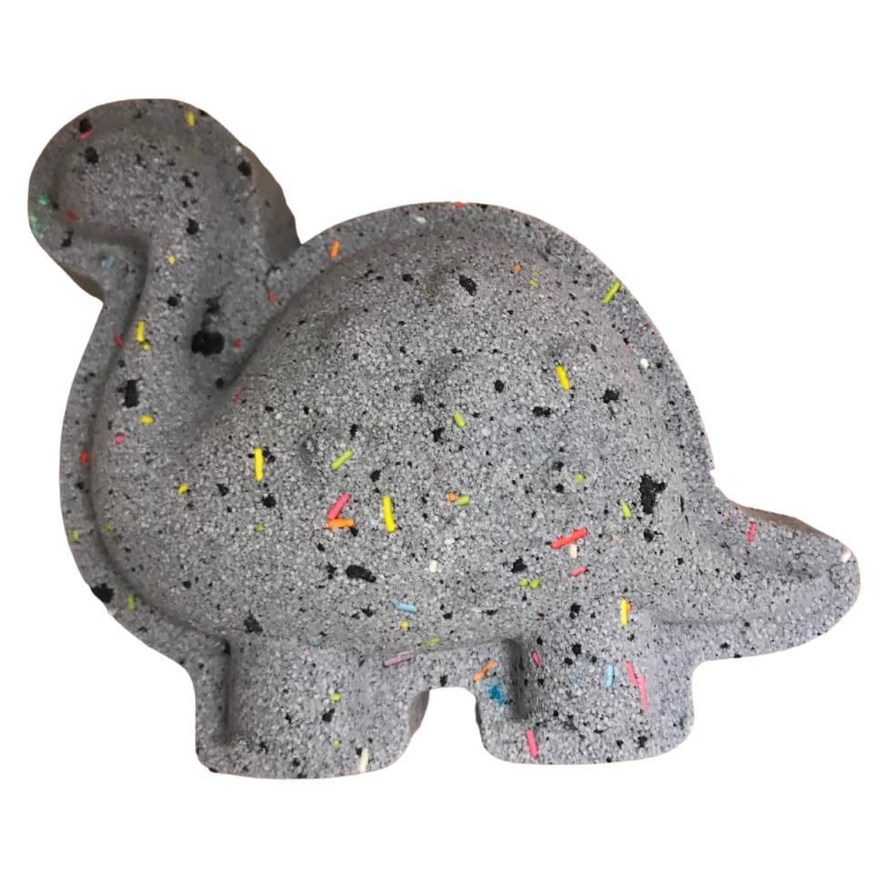 6 x Black Speckle Dinosaur Bath Bombs