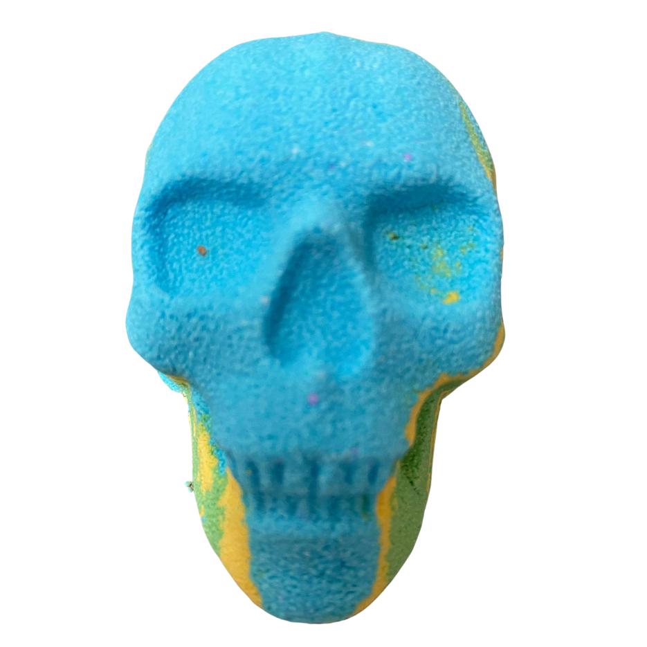 6 x Blue, Yellow and Green Skull Mega Blasters