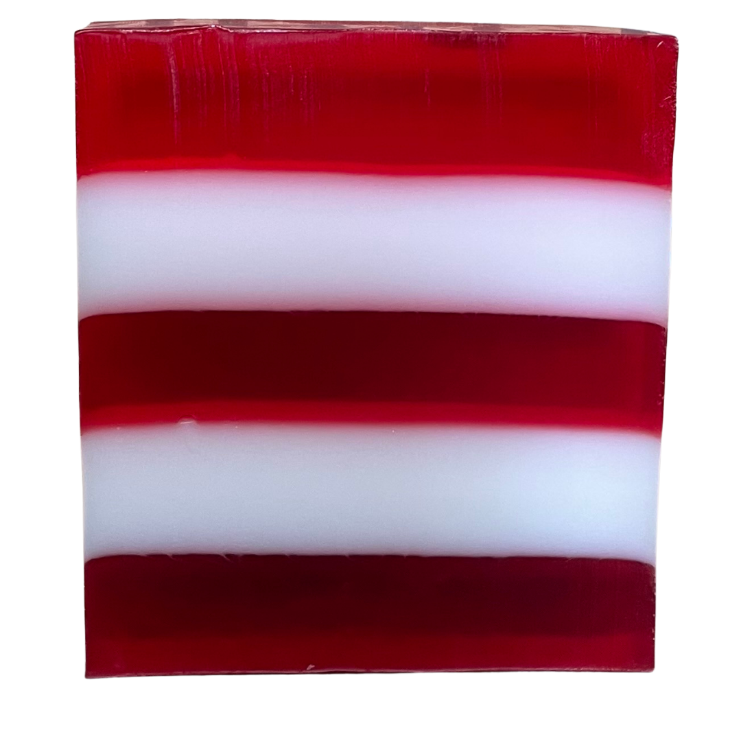 Candy Cane  Christmas Soap Loaf - 14 slices SLS Free