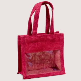 hot pink jute bag