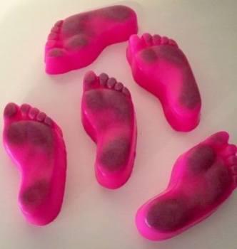 6 x Fresh Feet Pumice Soaps in Raspberry