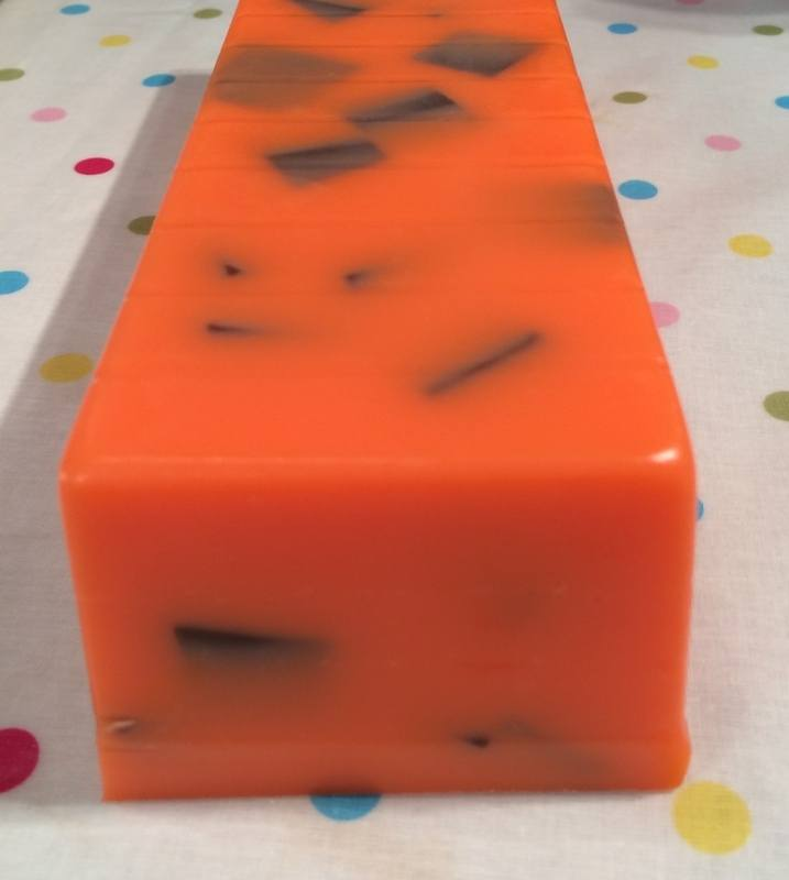 Chocolate Orange Soap Loaf
