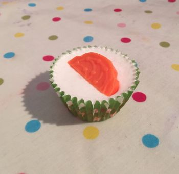 Mango  Scented Soap Cupcake x6
