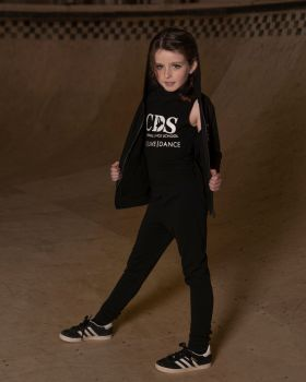 Cornwall Dance School Zip Front Hoody.