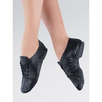 First Position Split Sole Jazz Shoe with Rubber Grip Sole