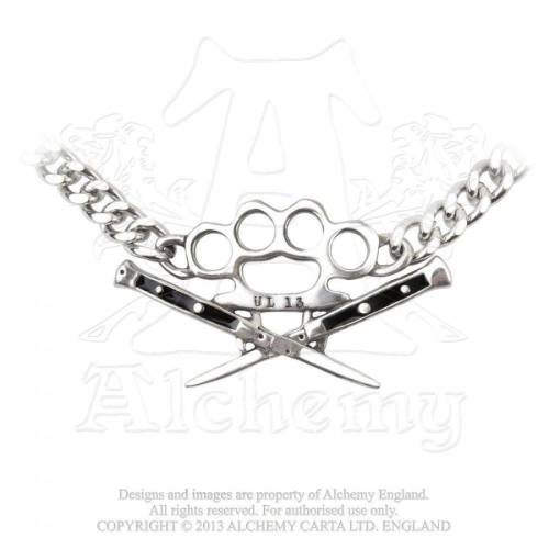 Alchemy Gothic Necklace- Switchblade Choker
