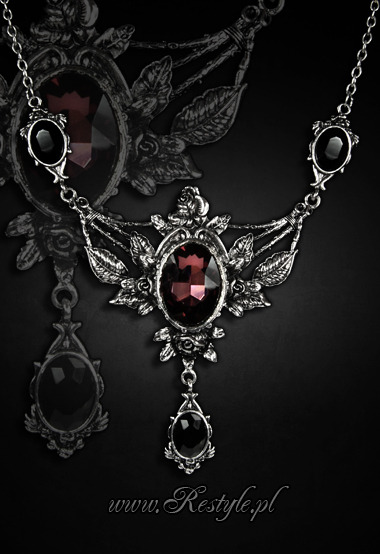 Gothic Victorian Roses Evening Necklace