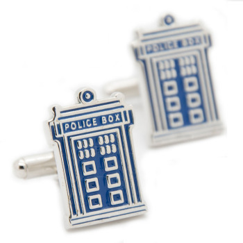 Doctor Who Tardis Police Box Cufflinks