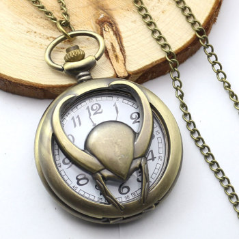 Loki Marvel Pendant Pocket Watch