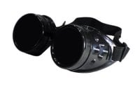 Black Steampunk Cosplay Cyber Welding Goggles