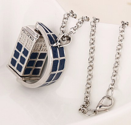 Doctor Who Spinning Tardis Pendant