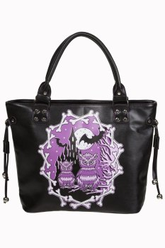 Gothic Banned Apparel Owl & Bat Handbag Secret Obsession