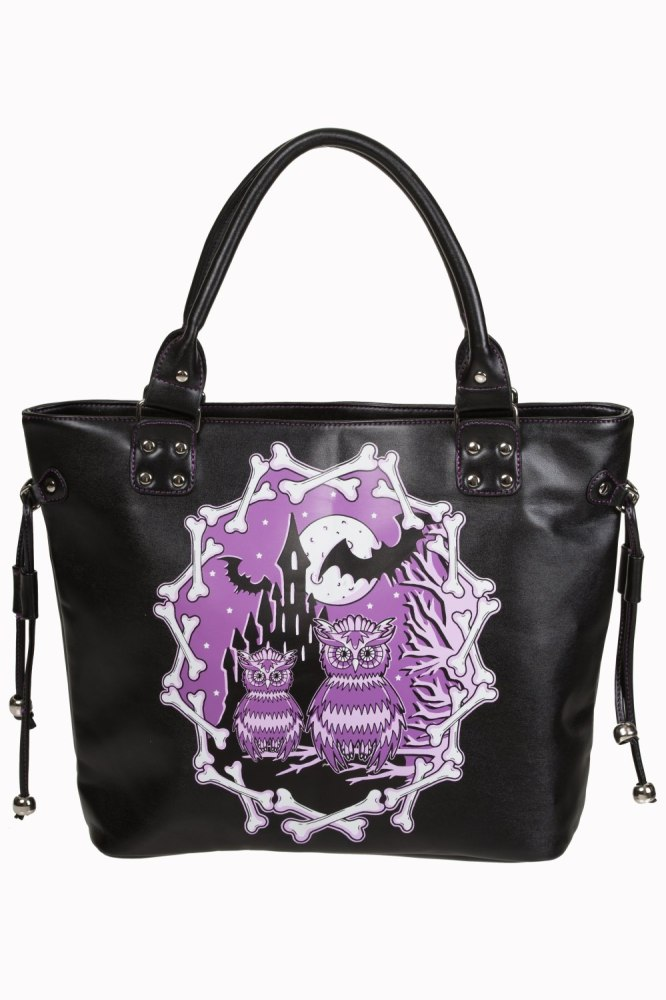 Gothic Owl & Bat Handbag Secret Obsession by Banned Apparel