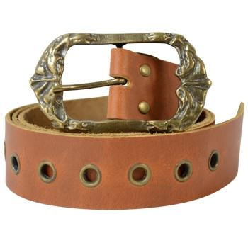LARP Steampunk Pirate Brown Leather Belt