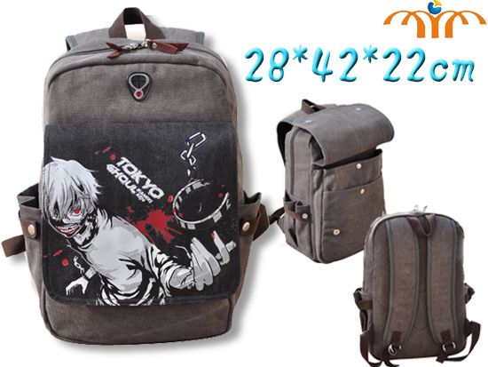 Anime Tokyo Ghoul Manga Canvas Rucksack Backpack