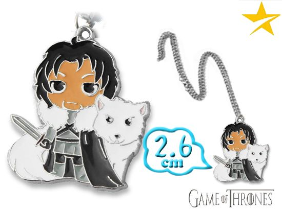 Game of Thrones Jon Snow Stark Pendant Necklace