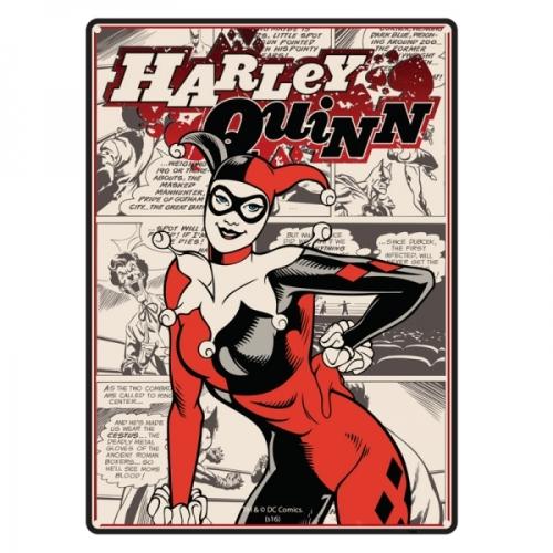 Harley Quinn Batman DC Comics Tin Sign/ Wall Plaque